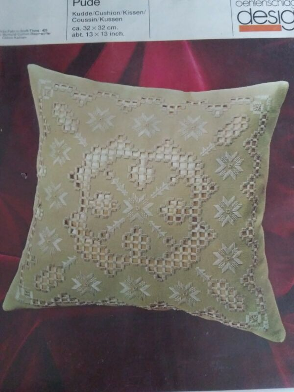 VINTAGE OEHLENSCHLAGER  CUSION EMBROIDERY Pillow Kit PUDE. NEW SEALED