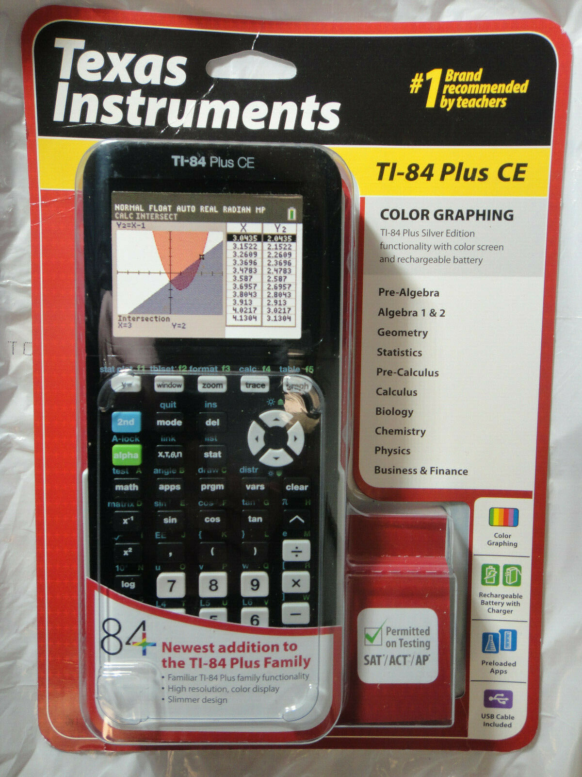 TEXAS INSTRUMENT TI-84 PLUS CE GRAPHING CALCULATOR BRAND NEW