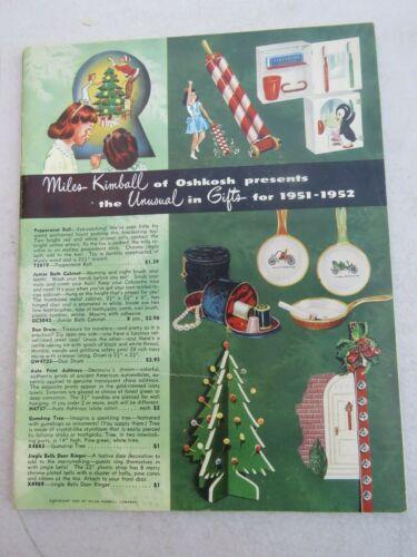 OSHKOSH WI - CHRISTMAS TOYS 1951 VINTAGE CATALOG - MILES KIMBALL