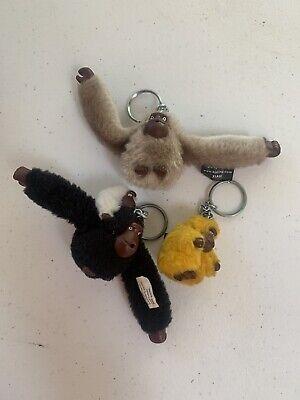 Kipling Monkey Keychain Xiah Lisa Ida  Gray Grey