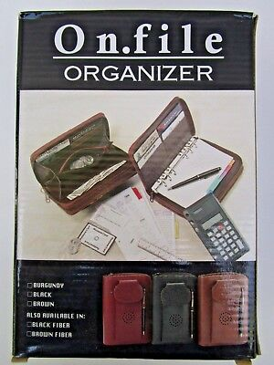 On File Double Zip Organizer Planner Telephone Address Card Phone Holder New
