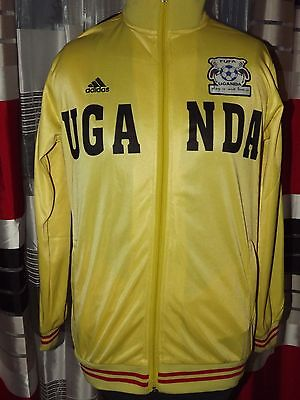 Vintage Rare FUFA Uganda football Adidas EXCELLENT (M) Jersey Shirt Camiseta image