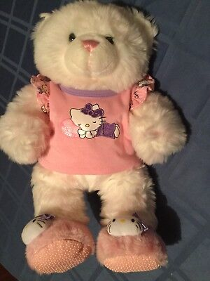 July 4th Build A Bear Hello Kitty 19 inch white&pink plush stuffed outfit (4th July Bear)