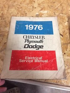 1975 & 1976 Chrysler, Dodge, Plymouth service manuals