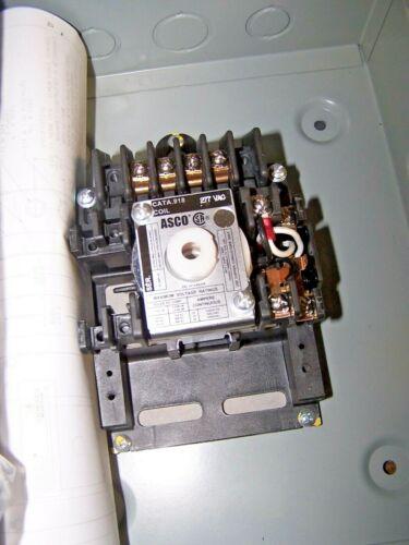 NEW ASCO 918 LIGHTING CONTACTOR 4 POLE  20 AMP COIL 277V  ASCO 9182071C