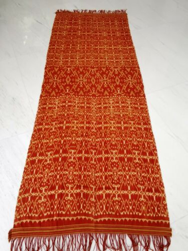 Beautiful old Ikat with geometrical pattern, Indonesia, 260 x 100 cm