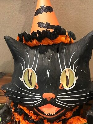 Bethany Lowe Halloween Sassy Cat Black Cat Container—w/Light Incl.—SOLD OUT!