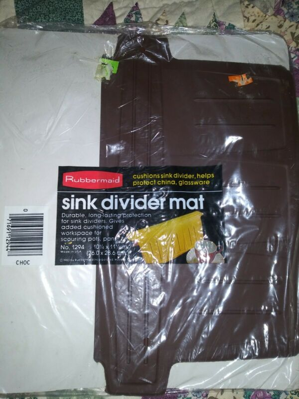Vintage New Sealed Rubbermaid Sink Separator Mat Brown Chocolate 1983