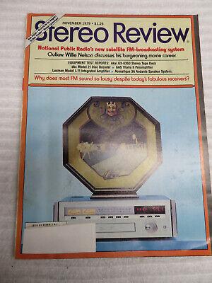 STEREO REVIEW MAGAZINE NOVEMBER 1979 AKAI GX-635D GAS THALIA II LUXMAN L-LL