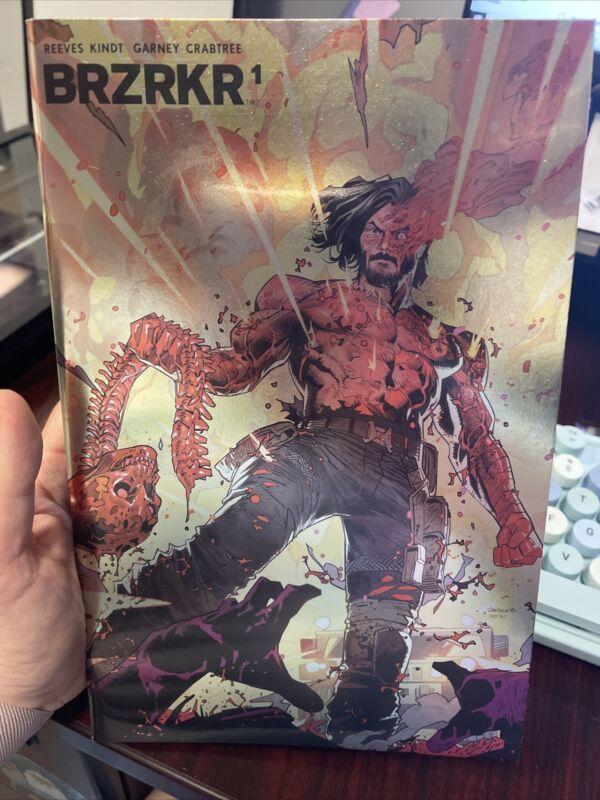 BRZRKR #1 Third 3rd Print Foil Variant Keanu Reeves Boom 2021 Actual Scans!