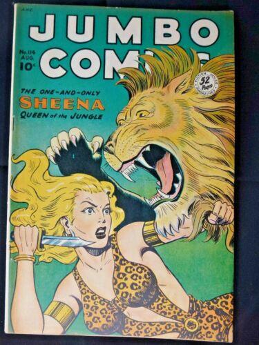 "1948 Jumbo Comics "" Sheena "" # 114 Very Nice Fiction House !"