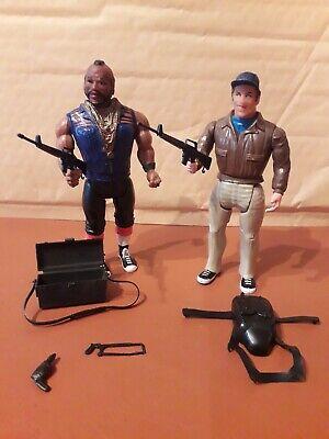Vintage 1983 A-Team Action Figures Mr T - B A Baracus & Murdock Cannell Prod.