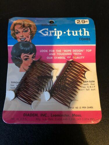 Vintage Grip-tuth Combs Ladies Hair Combs