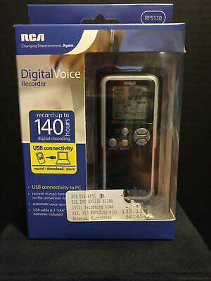 RCA RP5130: 512MB USB 140 Hour MP3 Recording Digital Voice Recorder