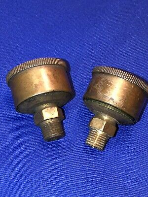 Nos Penberthy Brass Grease Cups Hit Miss Gas Steam Engine Antique Car Tractor