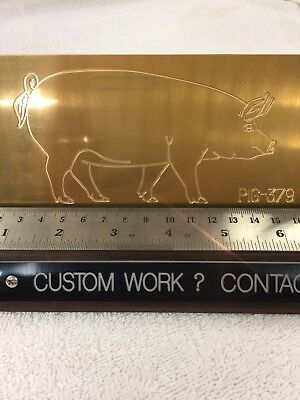 Large Pig Master Template Brass Engraving Plate For New Hermes Font Tray