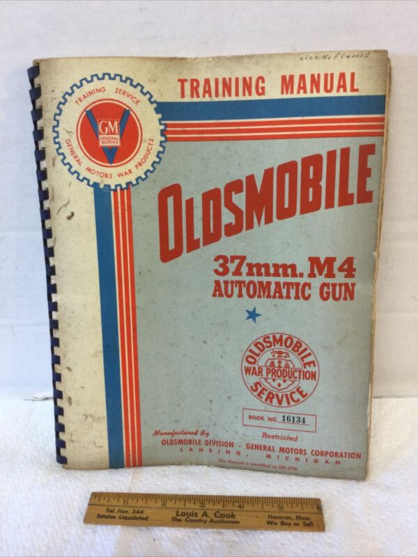 World War II Training Manual Oldsmobile 37mm M4 Automatic Gun with Fold Out