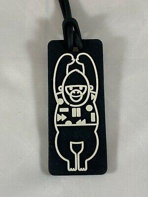 New Kipling Monkey Luggage Tag Black