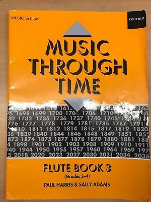 Music Through Time - Flute Book 3 by Paul Harris & Sally Adams  - Very good con.