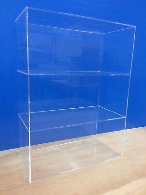 Acrylic Lucite Countertop Display Showcase Cabinet 12 X 7 X 16h 2 Shelves