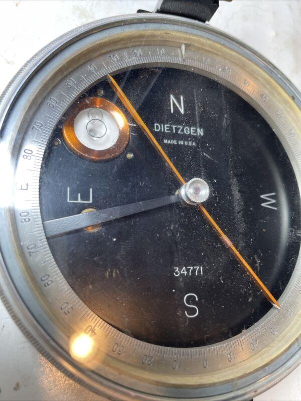Vintage Dietzgen Geologist Surveyor Compass  Antique Old Survey Tool 34771