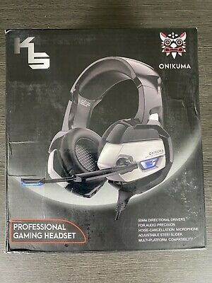 ONIKUMA K5 Wired Gaming Headset Xbox One PS4 PC Nintendo 64 Switch + Black