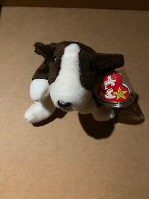 Ty Beanie Baby~Bruno Brown Bull Terrier Mint Condition Vintage Plush Toys for sale  Shipping to Canada