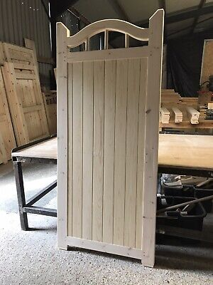 Wooden Entrance Gate 6' X 3' New Side Gates Spindles Swan Neck Design The Roman