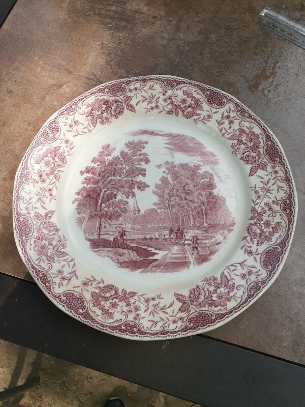 "Royal Tudor Ware Olde England Barker Brothers Red 10"" plate"