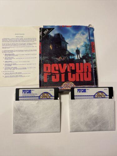 "Computer Games - PSYCHO Bates Motel Box Office Computer Game 5.25"" Disk IBM PC Big Box Game"