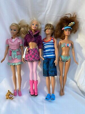 Barbie & Ken Doll Bundle with clothes & accessories - Used but good condition