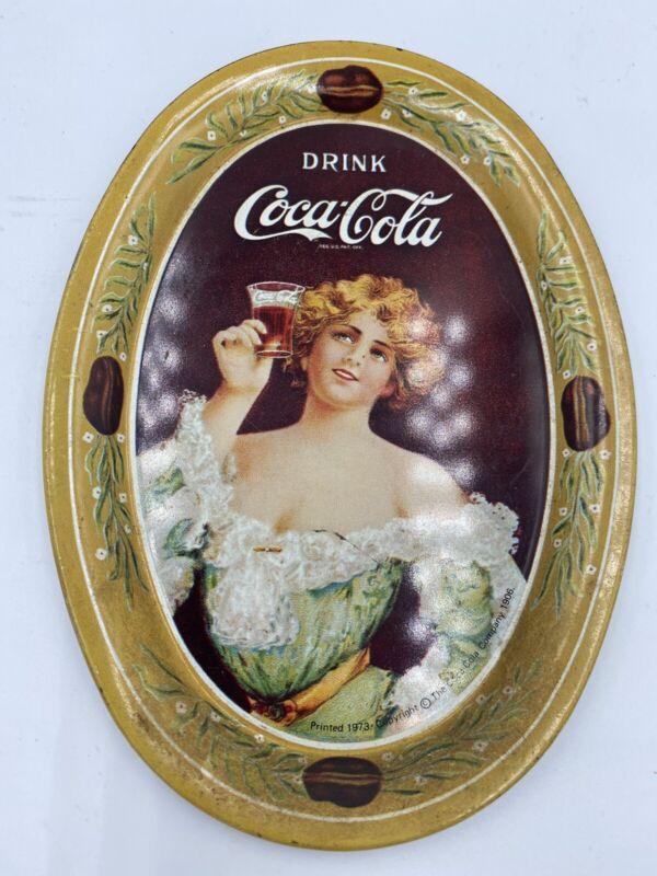 Vintage Coca Cola Metal Tray 1973
