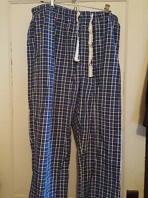 Lightweight Knit Pants (Light Weight Knit Pajama Lounge Pants w/ Drawstring & Pockets BLUE Men's Size XL)