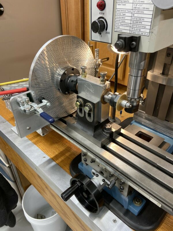 JEWELERS SPUR GEAR CUTTING ENGINE DIVIDING HEAD SPIN INDEXER FOR MILLING MACHINE