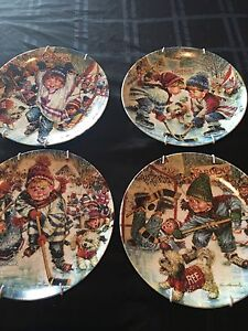 Hockey's  little heroes collectable plates
