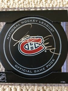 Jacques Lemaire Signed Puck