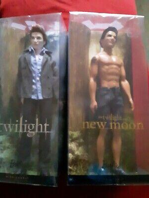 """Twilight Saga""  New Moon Jacob & Twilight Edward NRFB pink Label NRFB"
