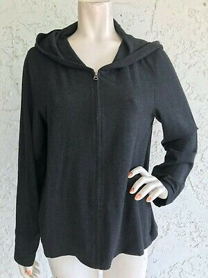 NWT EILEEN FISHER Cozy Viscose Stretch Gray Jacket Zip Size L