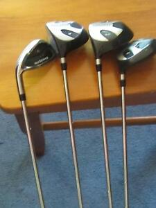 GOLF CLUBS LEFT HAND DRIVERS 1, 3, 5  & NO 4 CLUB MAXFLI, USA Kewdale Belmont Area Preview