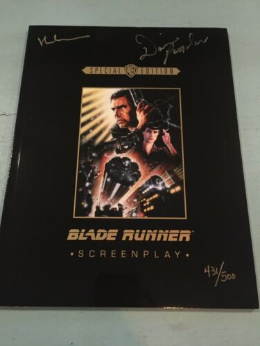 Купить Blade Runner hand signed screenplay