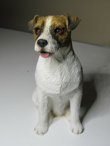 "Sandicast ""Mid Size"" Brown Rough Jack Russell Terrier Dog Sculpture MS325"