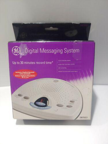 GE Digital Answering Machine Model 29875GE1 English Spanish