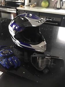 Helmet , gloves and goggles