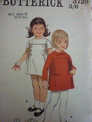 UNCUT VINTAGE 1960'S CHILDREN'S EASY DRESSES SEWING DRESSMAKING PATTERN