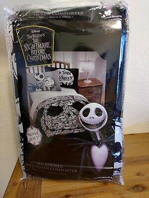 Nightmare Before Christmas Microfiber Full/Queen Comforter Jack Face NEW Blanket ()