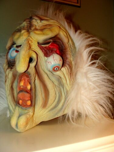 WITCH POPPING EYE BALL LATEX MONSTER MASK,VINTAGE 1990s TOPSTONE, NOT DON POST,