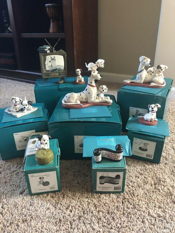 Disney WDCC Set Of 7 101 Dalmatians Figurines