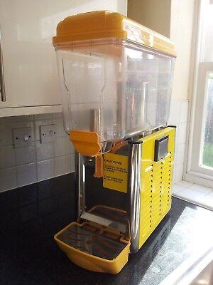 Polar Single Bowl Chilled Drinks Dispenser 1 x 12L Juice Milkshakes U605 Yellow