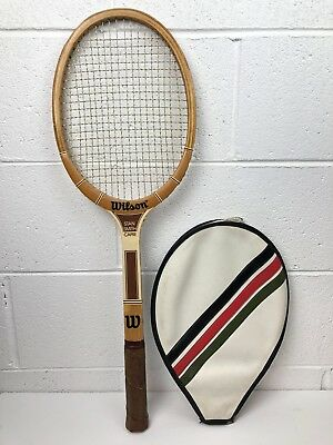 official photos 8da55 7bffb VINTAGE WILSON STAN SMITH PERFORMER STRATA BOW WOODEN TENNIS ...