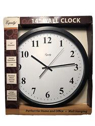 25508 Equity by La Crosse 14 Commercial Analog Wall Clock - NIB
